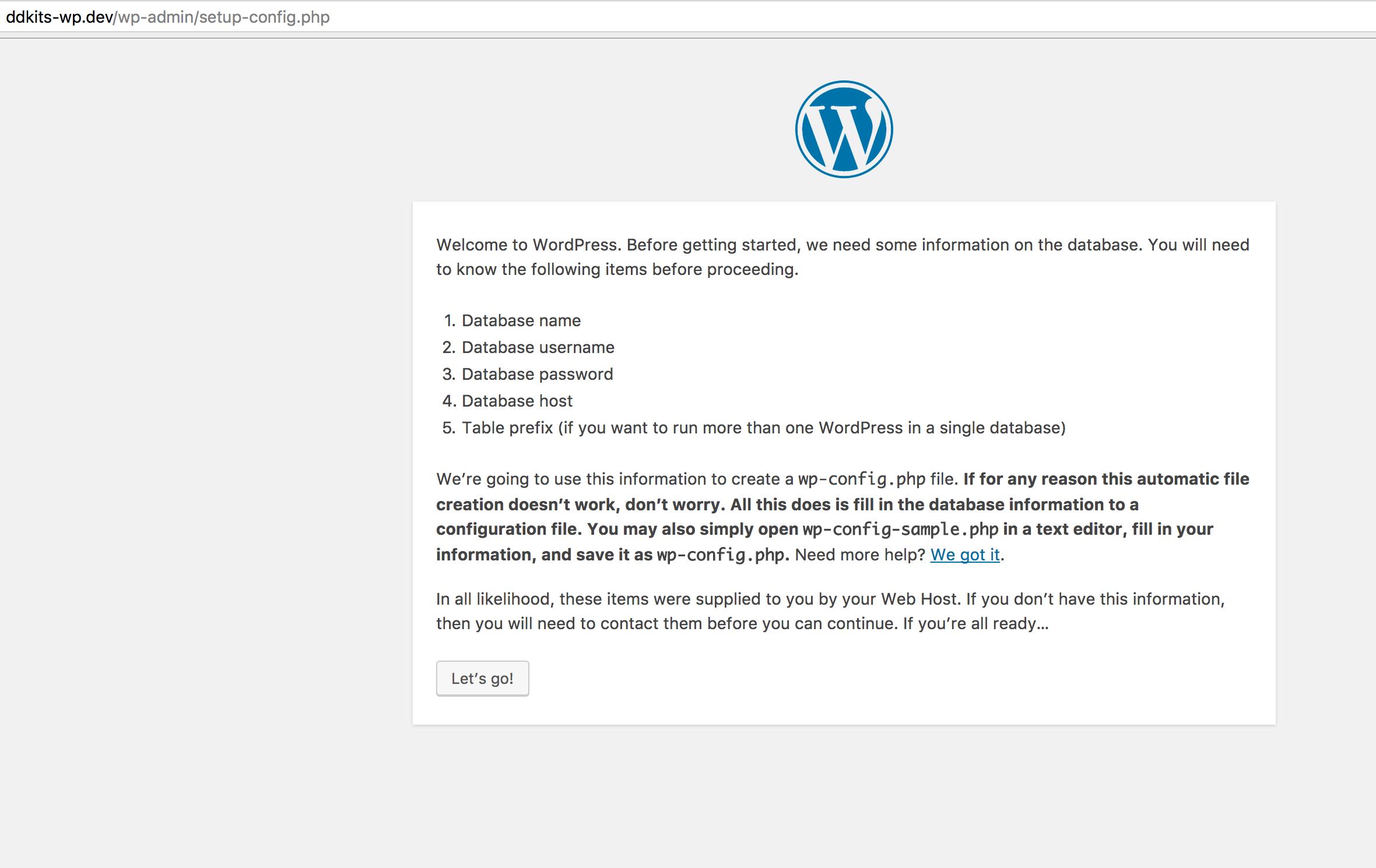 DDKits WordPress Installation