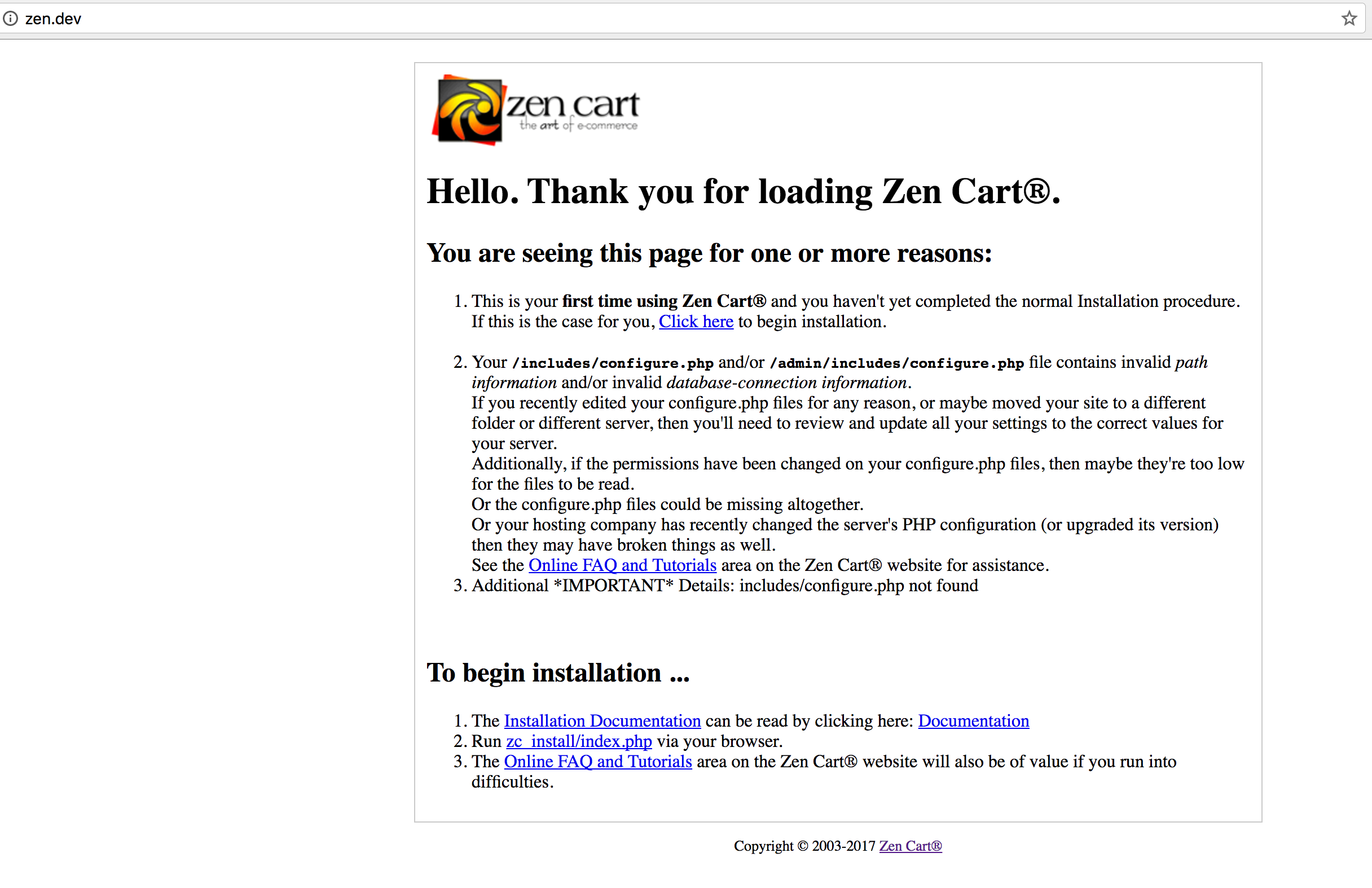 DDKits Zen Cart E-commerce Installation