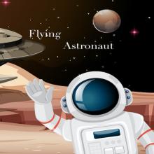 Flying Astronaut Icon